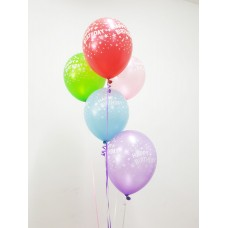 Gang-of-5 Birthday Latex Balloon (Helium-filled)