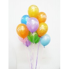 Gang-of-10 Birthday Latex Balloon (Helium-filled)
