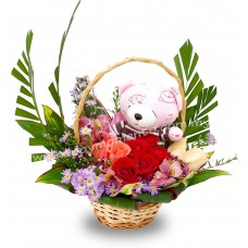 Beary Rose Basket