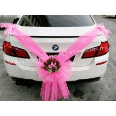 Pink Theme Wedding Car